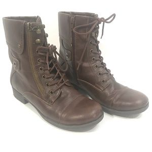G by Guess GG Banks Lace up combat boots EUC